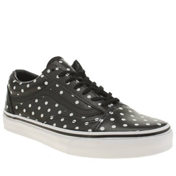 Vans Black & White Old Skool Polka Dots Trainers