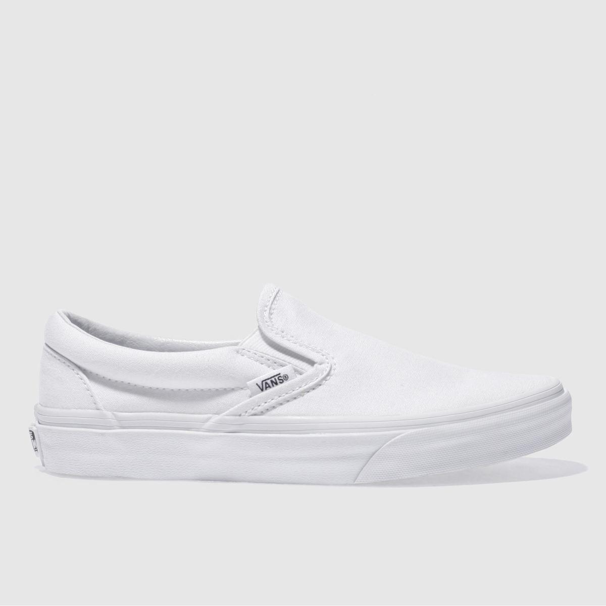 vans white classic slip trainers
