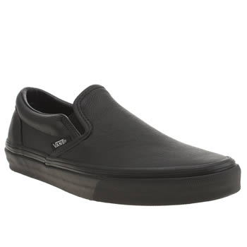 Vans Black Classic Slip Leather Trainers