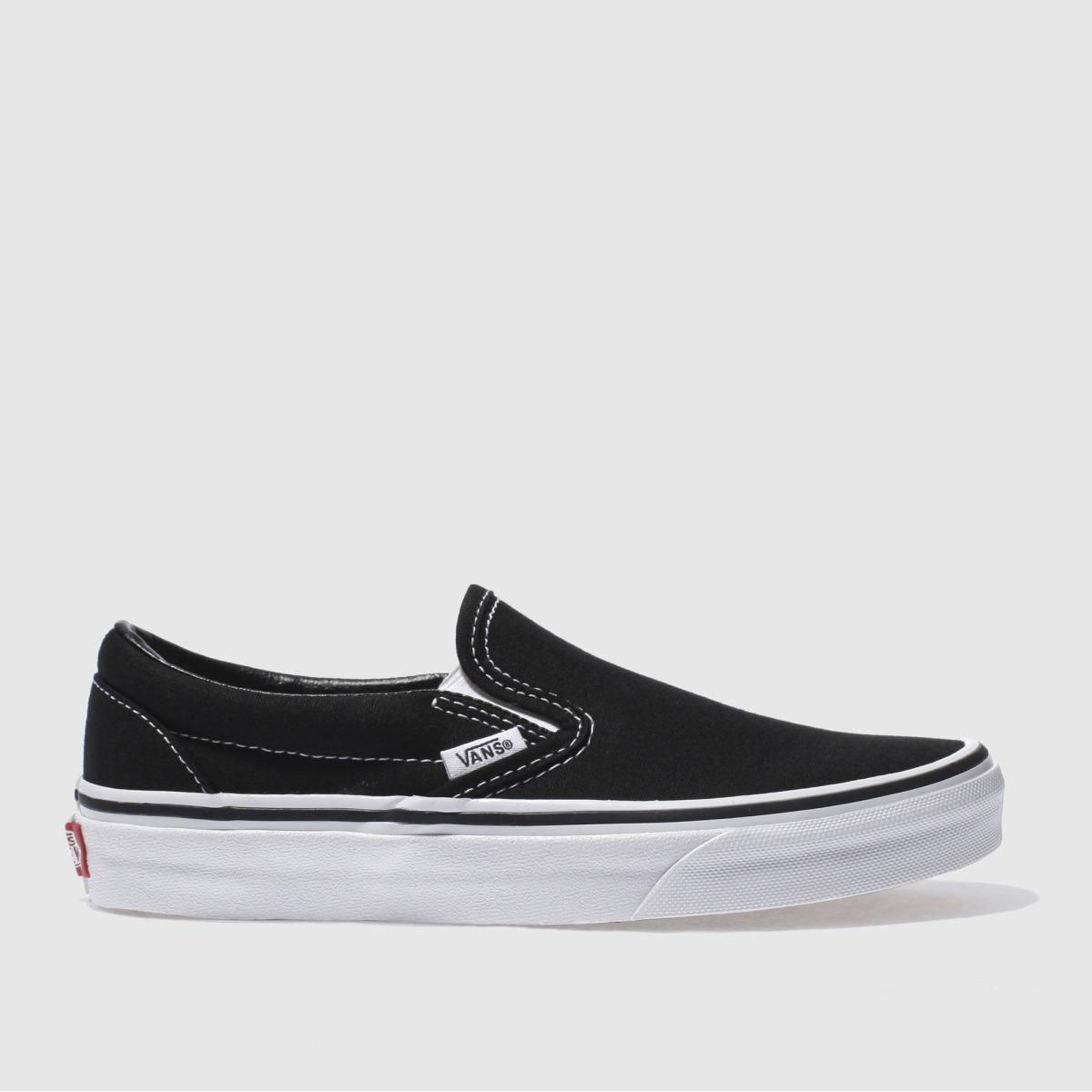Vans Black & White Classic Slip Vi Trainers