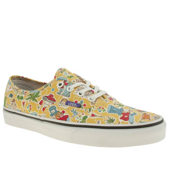 Womens Vans Yellow Authentic Trainers