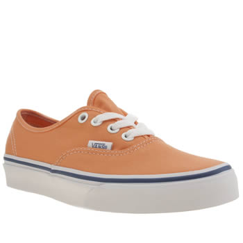 Womens Vans Peach Authentic Trainers