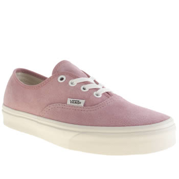 Womens Vans Pale Pink Authentic Suede Trainers