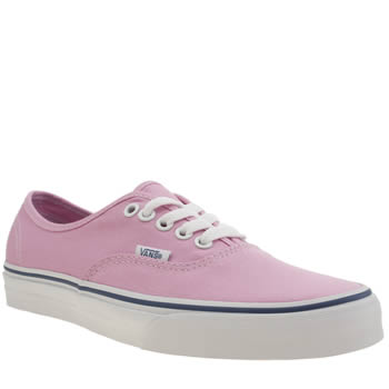 Womens Vans Pale Pink Authentic Trainers