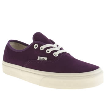 Womens Vans Purple Authentic Trainers