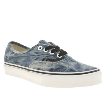 Womens Vans Navy & Black Authentic Acid Denim Trainers