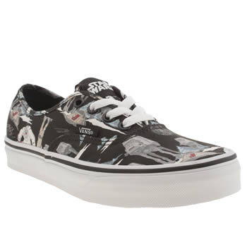 Vans Black & Grey Authentic Trainers