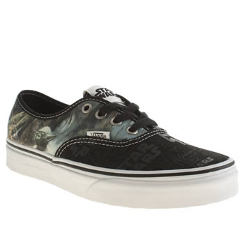 Vans Black & White Star Wars Authentic Trainers