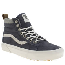 Vans Navy & White Sk8-hi Mte Womens Trainers