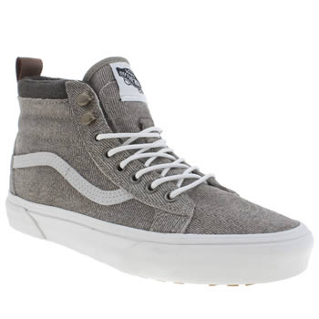 Vans Grey Sk8-hi Mte Denim Suede Womens Trainers