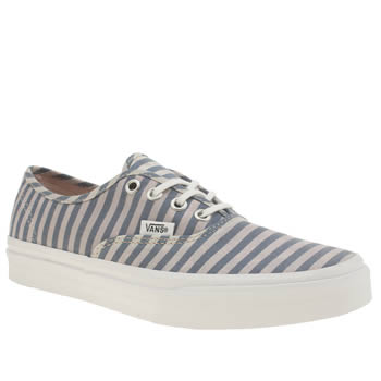 Womens Vans Navy & White Authentic Slim Stripes Trainers