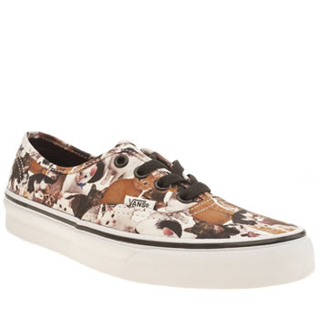 Vans Brown & White Authentic Aspca Kittens Trainers