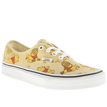 Vans Beige & Red Authentic Disney Winnie Trainers