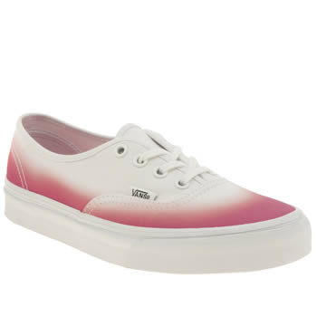 Vans White & Pink Authentic Trainers