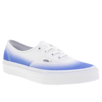 Vans White & Blue Authentic Trainers
