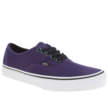 Womens Vans Purple Authentic Iridescent Trainers
