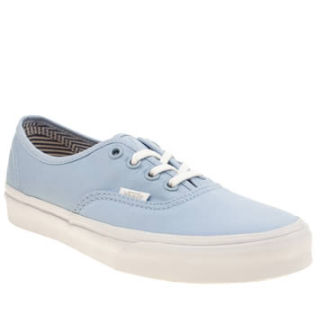 Womens Vans Pale Blue Authentic Deck Club Trainers