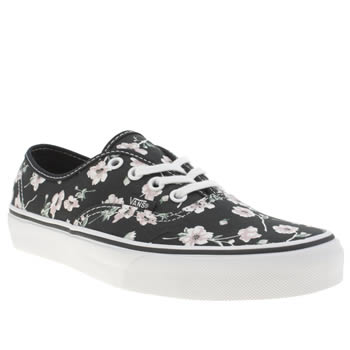Womens Vans Navy & White Authentic Trainers