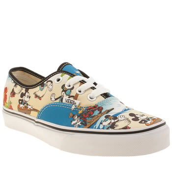 Vans Stone & Black Authentic Disney Hawaii Trainers