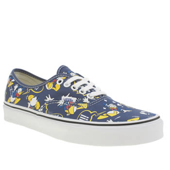 Womens Vans Blue & Yellow Authentic Disney Donald Trainers