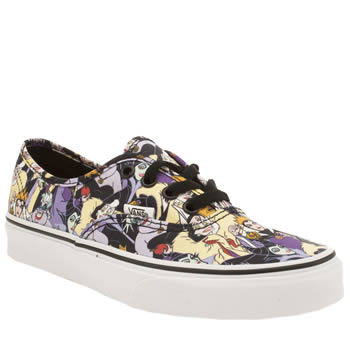 Vans Black & Purple Authentic Disney Villains Trainers
