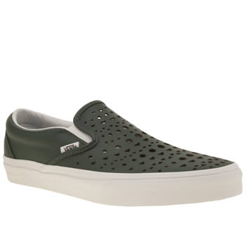 Vans Dark Green Classic Slip Cut Womens Trainers
