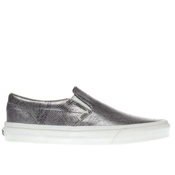 Vans Silver Classic Slip Disco Python Womens Trainers