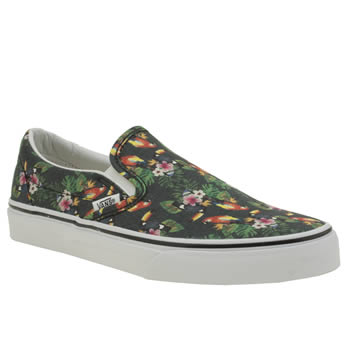 Vans Black & Green Classic Slip Parrot Womens Trainers