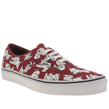 Womens Vans Red Disney Authentic Dalmatians Trainers