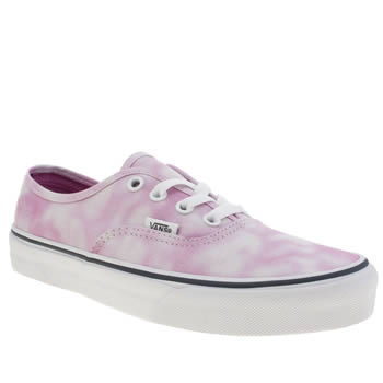Womens Vans Pale Pink Authentic Tie Dye Trainers