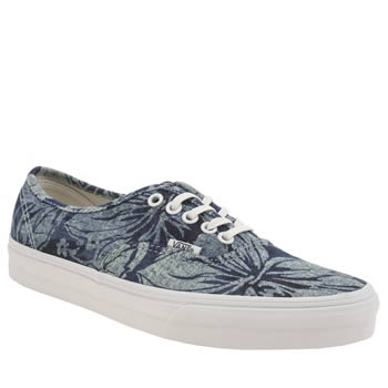 Vans Navy & Pl Blue Authentic Indigo Tropical Trainers
