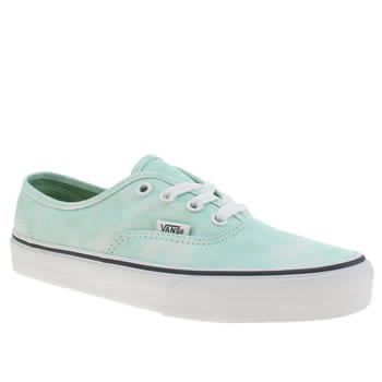 Vans Turquoise Authentic Tie Dye Trainers