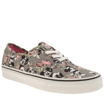 Vans Grey Disney Authentic Minnie Mouse Trainers