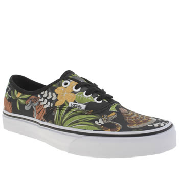 Vans Black & Green Disney Authentic Jungle Book Trainers