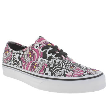 Vans Black & Purple Authentic Disney Cheshire Cat Trainers
