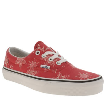 Womens Vans Red Era Van Doren Skull Trainers