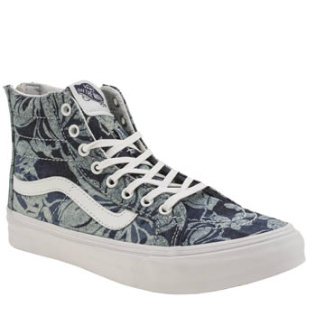 Vans Navy & Pl Blue Sk8-hi Slim Denim Zip Womens Trainers