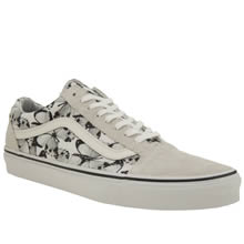 Vans White & Black Old Skool Butterfly Womens Trainers
