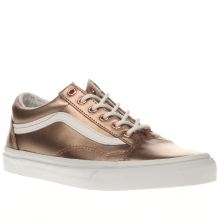 Vans Rose Gold Old Skool Womens Trainers