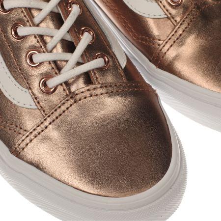 vans khaki old skool trainers rose gold
