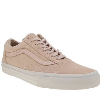Vans Pale Pink Suede Woven Old Skool Trainers
