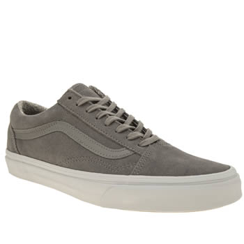 Vans Light Grey Suede Woven Old Skool Trainers