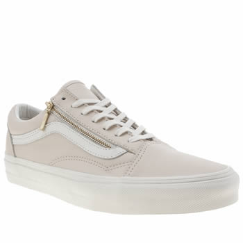 Vans Pale Pink Old Skool Zip Trainers