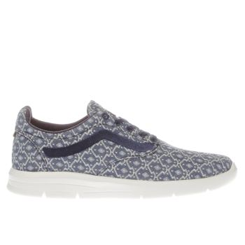 Vans Navy & White Blanket Weave Iso 1-5 Womens Trainers