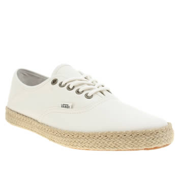 Vans White Authentic Espadrille Trainers