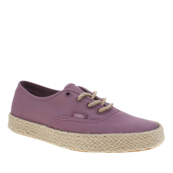 Vans Pink Authentic Espadrille Trainers