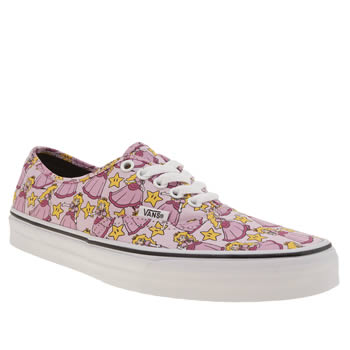 Womens Vans Pale Pink Nintendo Princess Peach Trainers