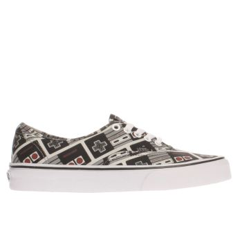 Vans Black & Grey Authentic Nintendo Controller Womens Trainers