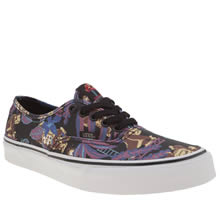Vans Black & Purple Authentic Nintendo Donkey Kong Womens Trainers