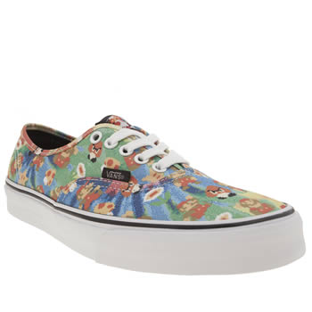 Vans Multi Authentic Nintendo Super Mario Womens Trainers